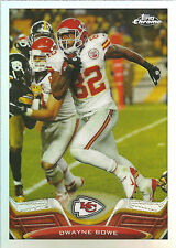 DWAYNE BOWE 2013 Topps Chrome Football Refractor Card #212 Chiefs