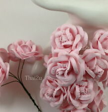 10 Soft Pink Mulberry Paper Craft Flower Wedding Gift scrapbooks Roses ZR60-2