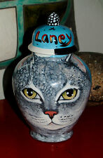 Custom Memorial CERAMIC SMALL Pet urn for CAT ashes tabby any animal your pet