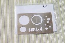 Stampin Up Classy Brass Template / Simply Circles / Dry Emboss Stencil, New