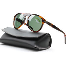 Persol PO0649 Suprema Sunglasses 108/58 Caffe Brown, Green Polarized Lens 52mm