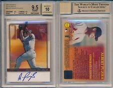 Albert Pujols 2001 Bowman Autograph Rookie Card Rc BGS 9.5 Auto 10 Gem Mint x296