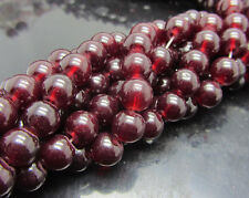 Wholesale 30pcs 8mm  Glass Pearl Round Spacer Loose Beads wine red