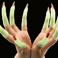 Halloween Zombie Witch Luminous False Nail Sets Costume Party Supplies Props New