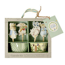PETER RABBIT CUPCAKE KIT, CAKE CASES & TOPPERS, BABY SHOWER / 1st BIRTHDAY PARTY
