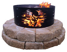 Metal Skull Fire Ring 'V-Twin Man Cave Collection' Made in the USA, Harley