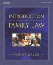 Introduction to Family Law, Gallo, Nancy R