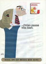 Publicité 1998  CANDEREL  sucre sans sucre !!  Dessin signé KIRAZ