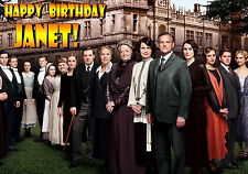 DOWNTON ABBEY tv series Personalised Happy Birthday Merry Christmas Xmas Card