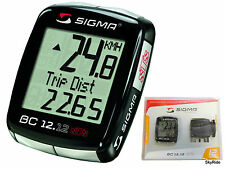 Sigma 12Function BC1212STS Wireless Bike Computer Speedometer Odometer Tripmeter
