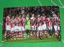 Stoke City FC Nelson Mandela Tribute Photograph Signed x 13 2013/2014 Players