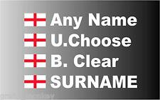 """SMALL"" English Rally Car Name decal sticker graphics St George Flag"
