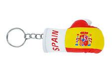 PORTACHIAVI pelle porta chiavi auto keychain Guantoni da boxe bandiera SPAGNA