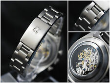 Alpha 20mm Oyster stainless steel bracelet band fit chronograph