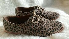 Dolce Vita Leopard Laced Oxford Shoes, Size 7.5 Casual