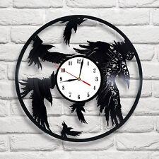 Crows birds design vinyl record clock home decor art  bedroom shop club office 1