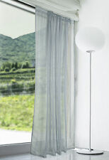"Lucy Extra Long Silver Grey Voile Slot Top Curtain Panel 108"" (274cm) Drop"