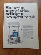 1968 New York Life Insurance Ad Whatever your Retirement Wishes We'll Help You