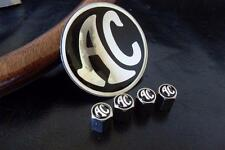 Nickel Finish Tyre Valve Dust Caps with AC Cobra / Ace Badge - Superb Quality