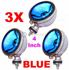 "Three 3X 12V 4"" Inch BLUE Angeleye Halogen Car 4x4 Spotlight Spot Fog Light Lamp"