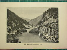 c1890 ANTIQUE PRINT ~ VIEW OF HELL-GATE GORGE FRASER RIVER