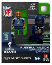 Russell Wilson OYO SUPER BOWL XLVIII NFC CHAMPS Seattle Seahawks Football RARE