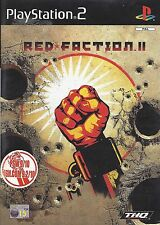 RED FACTION II (2) for Playstation 2 PS2 - with box & manual