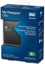 """WD My Passport ULTRA 2TB USB 3.0 2,5"""" - BLACK - NUOVO - GRATIS SPEDIZIONE"""