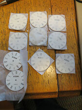 Lot 10 New Old Stock LeJour Pocket Watch Dials Faces Parts Steampunk Crafts Art