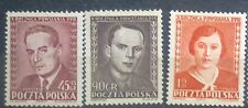 POLAND STAMPS MNH Fi583-5 Sc534-5+B63 Mi721-3 - Worker's Party, 1952, clean