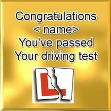 Personalised Coaster - Passing driving test - Gold Coloured  +  FREE GIFT BOX