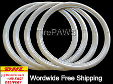 "13"" Motorcycle Wide WhiteWalls Port-a-wall Sidewall Tire insert trim set of 4"