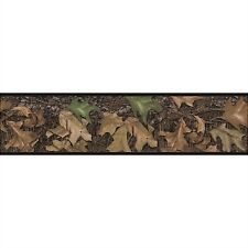 Mossy Oak WALL BORDER self stick hunting camouflage leaves camo wallpaper decor