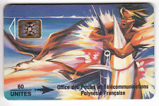 POLYNESIE  TELECARTE / PHONECARD .. PF13A 60U SC5AN MAT GE.00018  PUCE C.20€