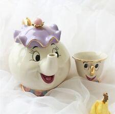SET TEIERA MRS. BRIC E CHICCO LA BELLA E LA BESTIA TEAPOT AND COFFEE CUP CINEMA