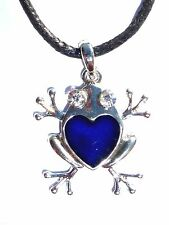 NEW Frog Rhinestone Color Change Heat Thermo Mood Pendant Necklace