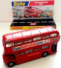 Vintage DINKY Toys 289 ROUTEMASTER BUS Diecast Model & Custom Repro Display