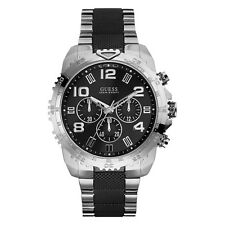 NEW GUESS WATCH for Men * Chronograph * Black/Silver Band * Tachymeter * U0598G3