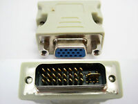 Lot of 2 DVI-I Male Dual Link 24+5 to VGA Female 15 Pin Video Adapter Converter
