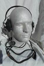 Korean War  & Later Chinese MIG Fighter Pilot Headphones with Throat Mike Plug