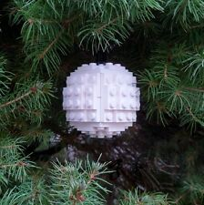 *! Genuine Lego Medium White Christmas Tree Bauble Decoration !!