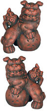 "Foo Dog Pair 10"" statues sculptures Sculpture Replica Reproduction"