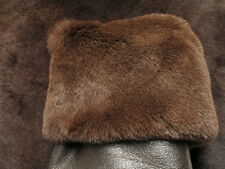 Shearling: Brown Leather Hide Skin lambskin Genuine Italian Sheepskin Pelt Su...
