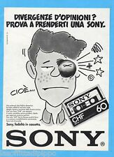 QUATTROR983-PUBBLICITA'/ADVERTISING-1983- SONY - CASSETTE CHF