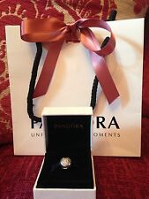 Genuine Disney Pandora Mickey Mouse Pave Clip Charm With Box & Bag!