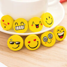 4Pcs Cartoon Faces Yellow Smile Rubber Eraser Student Stationery Articles Reward