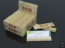 25Booklets OCB 110mm 100% Natural Organic Hemp Slim King Size Rolling Papers#815