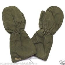 used French Men's Mittens OD canvas wool lined size 1= Small Pair E2010
