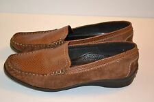 ARA JENNY mocassin/loafers slip on shoes brown leather womens SZ 9 Germany
