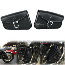 PU Leather Solo Saddle Side Bags For Harley Davidson Sportster XL883